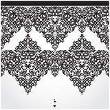 Vector seamless border in Victorian style. Element for design. Place for your text. It can be used for decorating of wedding invitations, greeting cards Royalty Free Stock Photos