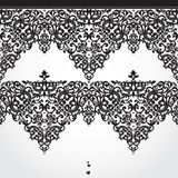 Vector seamless border in Victorian style. Element for design. Place for your text. It can be used for decorating of wedding invitations, greeting cards Royalty Free Stock Photography