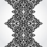 Vector seamless border in Victorian style. Element for design. Place for your text. It can be used for decorating of wedding invitations, greeting cards Stock Photography
