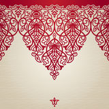 Vector seamless border in Victorian style. Stock Photos
