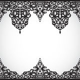 Vector seamless border in Victorian style. Stock Image