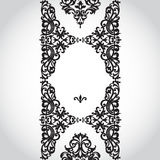 Vector seamless border in Victorian style. Element for design. You can place the text in an empty frame. It can be used for decorating of invitations, greeting Stock Photos