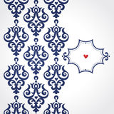 Vector seamless border in Victorian style. Royalty Free Stock Photo