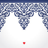 Vector seamless border in Victorian style. Royalty Free Stock Photography