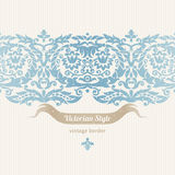 Vector seamless border in Victorian style. Royalty Free Stock Images