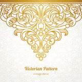 Vector seamless border in Victorian style. Royalty Free Stock Photos