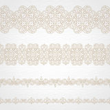 Vector seamless borders in east style. Royalty Free Stock Photos