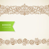 Vector seamless borders  in Victorian style. Royalty Free Stock Photo