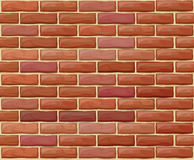 Vector seamless brick wall made of red bricks Stock Images