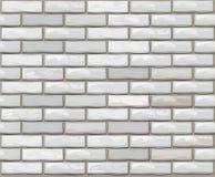 Vector seamless brick wall made of white bricks. Royalty Free Stock Photos