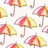 Vector Seamless Bright Umbrellas Stock Photo