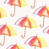 Vector Seamless Bright Umbrellas Stock Images