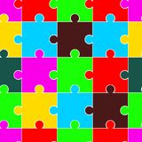 Vector Seamless Brightly Colored Puzzle Pattern eps10 royalty free illustration