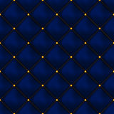 Vector seamless buttoned leather pattern . Upholstery or walls. Stock Photos