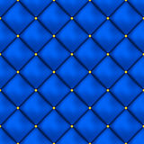 Vector seamless buttoned leather pattern . Upholstery or walls. Royalty Free Stock Photo