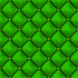Vector seamless buttoned leather pattern . Upholstery or walls. Royalty Free Stock Image