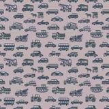 Vector seamless car pattern Stock Photos