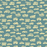 Vector seamless car pattern Stock Photography