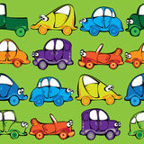 Vector seamless cars pattern Stock Image