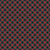 Vector seamless casino pattern illustration with playing card symbols on grey background. Stock Images