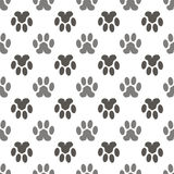 Vector Seamless Cat Animal Paw Pattern Royalty Free Stock Photo