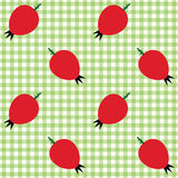 Checked pattern with rose hip Royalty Free Stock Photo