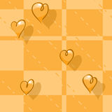 Vector seamless checkered background. Print tablec Stock Photo