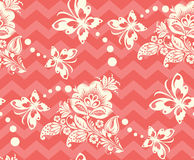 Vector Seamless chevron floral Background Royalty Free Stock Photography