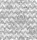 Vector Seamless chevron floral Background Stock Images