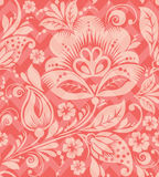 Vector Seamless chevron floral Background Royalty Free Stock Images