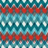 Vector seamless Chevron Pattern. Fashion zigzag in. Retro colors, vector background. EPS vector illustration