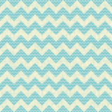 Vector Seamless chevron pattern on linen turquoise Royalty Free Stock Photography