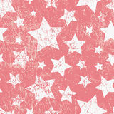 Vector seamless childish pattern with stars. Grunge style Royalty Free Stock Photos