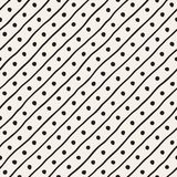 Vector Seamless Childlike Pattern. Monochrome Hand Drawn Geometric Shapes Texture Royalty Free Stock Image