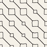 Vector Seamless Childlike Pattern. Monochrome Hand Drawn Geometric Shapes Texture Stock Photos