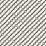 Vector Seamless Childlike Pattern. Monochrome Hand Drawn Geometric Shapes Texture Stock Image