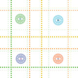 Vector seamless children`s pattern. Buttons and seams Royalty Free Stock Image
