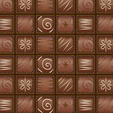 Vector seamless chocolate pattern Stock Images