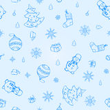 Vector seamless Christmas elements pattern Stock Photo