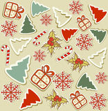 Vector seamless with Christmas items royalty free stock photography