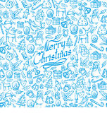 Vector Seamless Christmas and New Year Card Royalty Free Stock Images