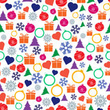 Vector seamless Christmas and New Year pattern. Stock Image