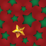 Vector seamless Christmas pattern with clipped stars. Holiday theme. For wrapping paper, wallpapers, web site background, textile Royalty Free Stock Photos