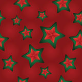 Vector seamless Christmas pattern with clipped stars. Holiday theme. For wrapping paper, wallpapers, web site background, textile Royalty Free Stock Images