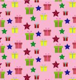 Vector seamless Christmas pattern. stock images