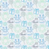 Vector seamless Christmas pattern Royalty Free Stock Photography
