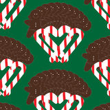 Vector seamless cute christmas pattern Royalty Free Stock Photo