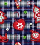 Vector seamless Christmas pattern. New year dark Stock Photography