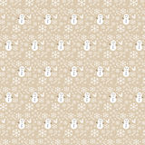 Vector seamless Christmas pattern with snowflakes and snowman Royalty Free Stock Image