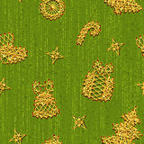 Vector seamless Christmass pattern with same Royalty Free Stock Photos